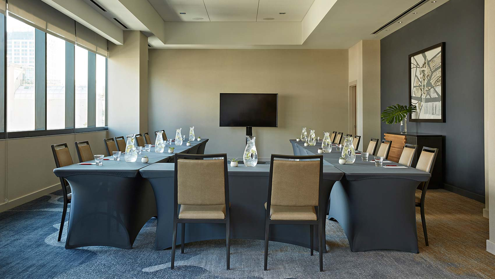 Sycamore U-Shaped Boardroom Setup